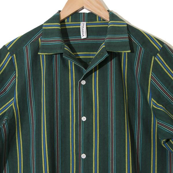 フロントポケット ボーリングシャツ GREEN
