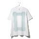 Square Print T-shirt <WHITE>(オーバーサイズシャツ)