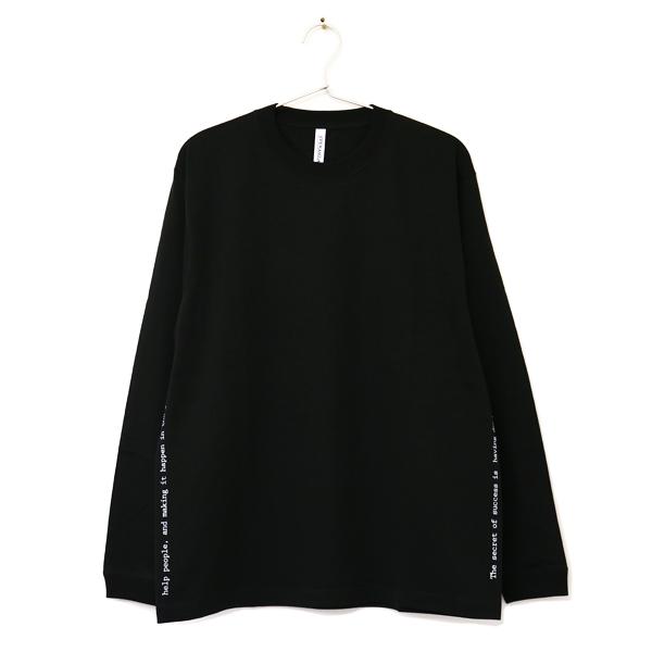 プリント L/S Tee BLACK