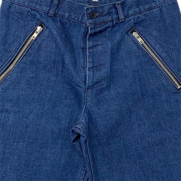 ZIP レギュラーデニムパンツ BLUE