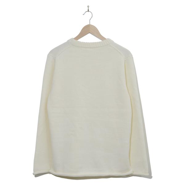 クルーネックニットセーター WHITE