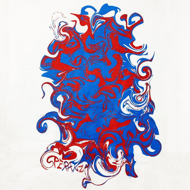 バックプリント Tシャツ【Kemuri】 WHITE