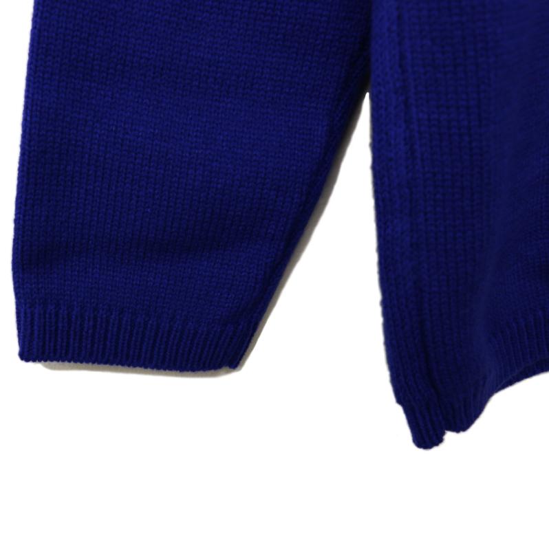 ネイティブ柄ニットセーター BLUE