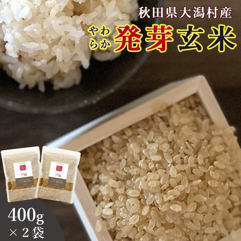 秋田県大潟村産 発芽玄米 400g 2袋セット