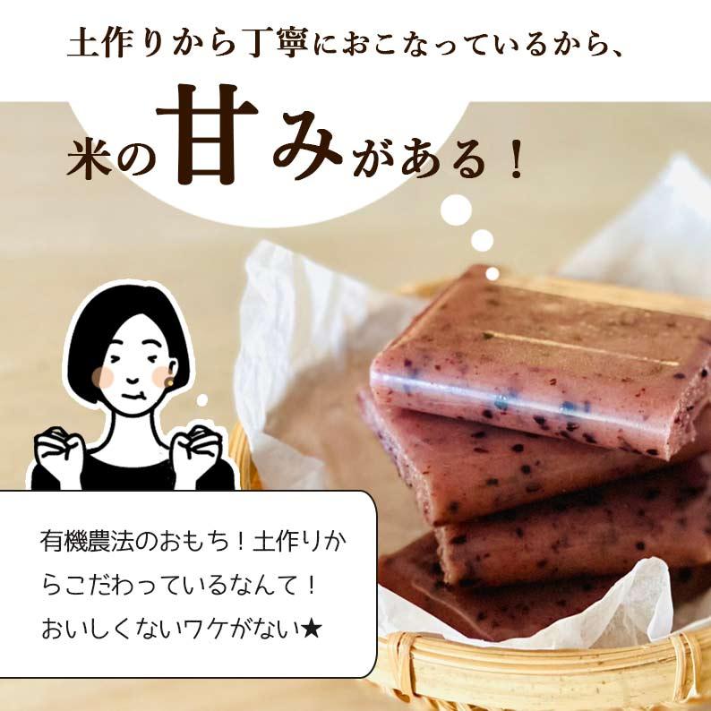 秋田県産 有機黒米杵つき餅 270g 3パックセット
