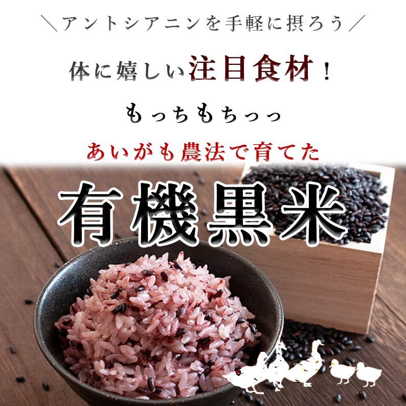秋田県産 有機黒米 400g