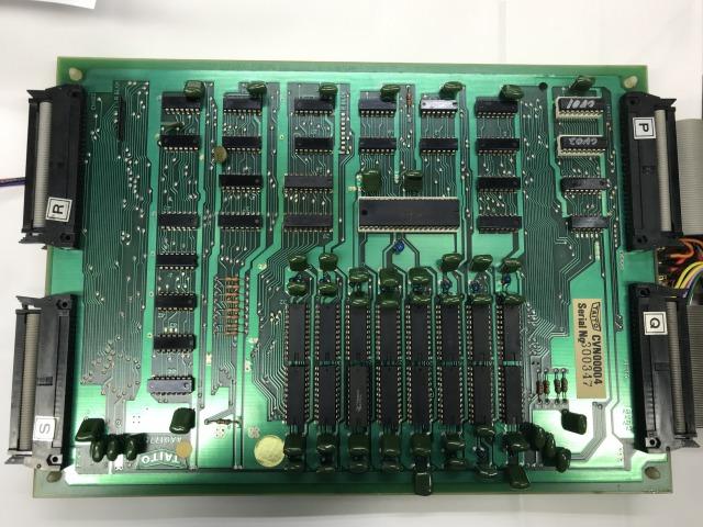 スペースインベーダー カラー 基板シリアルNo一致品