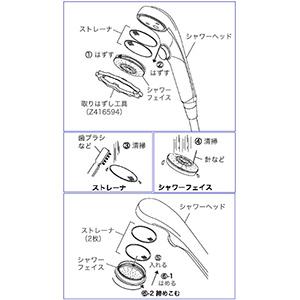 【Z416594】ワンストップシャワーフェイス取り外し工具