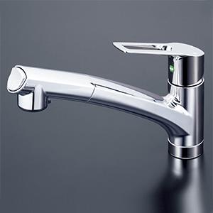 【KM5021TECHS】撥水シングルシャワー付混合栓