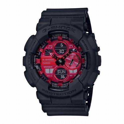 カシオGショック アナログ・デジタル腕時計   GA-140AR-1AJF メンズ Black and Red Series 国内正規品