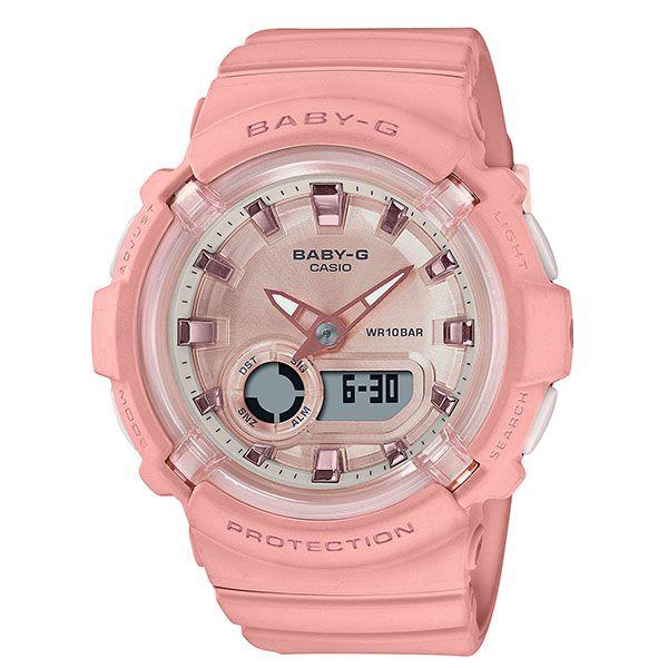 カシオ ベビーG アナ・デジ腕時計 BGA-280-4AJF レディース コーラルピンク 国内正規品