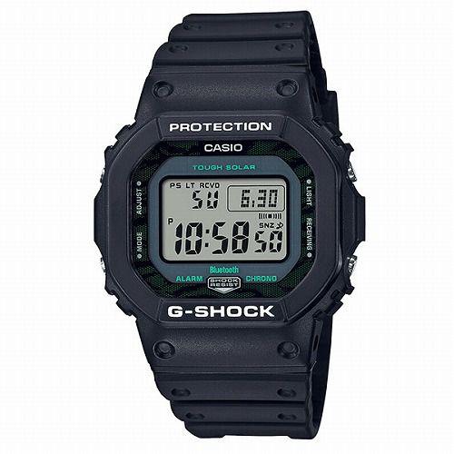 カシオGショック ソーラー電波腕時計 GW-B5600MG-1JF メンズ スマートホンリンク Black and Green Series 国内正規品