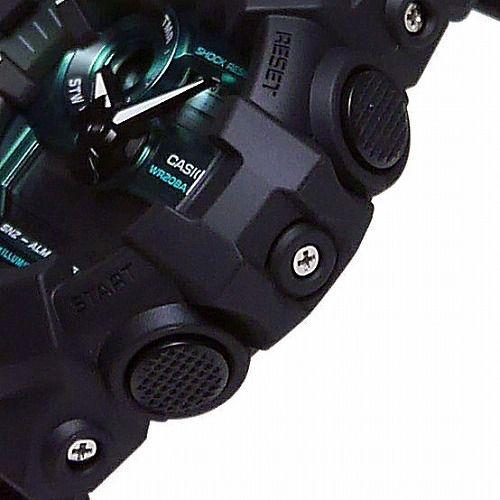 カシオGショック アナデジ腕時計 GA-700MG-1AJF メンズ Black and Green Series 国内正規品