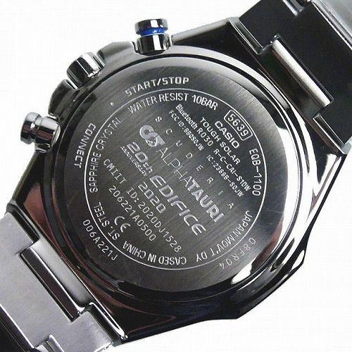 カシオ エディフィス ソーラー腕時計 EQB-1100AT-2AJR スマートフォンリンク メンズ Scuderia AlphaTauri LimitedEdition 国内正規品