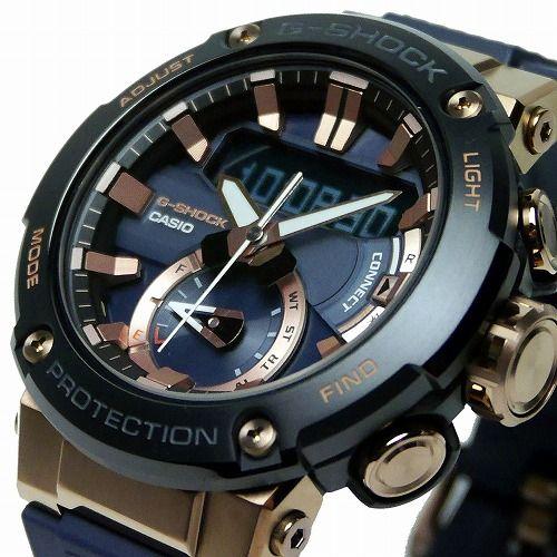 カシオGショックGスチール ソーラー腕時計 GST-B200G-2AJF スマートフォン リンク メンズ 国内正規品