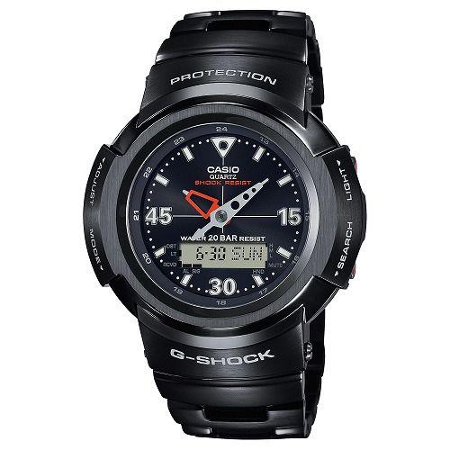 CASIO G-SHOCK アナログ・デジタル ソーラー電波腕時計  AWM-500-1AJF フルメタル ブラックモデル メンズ 国内正規品