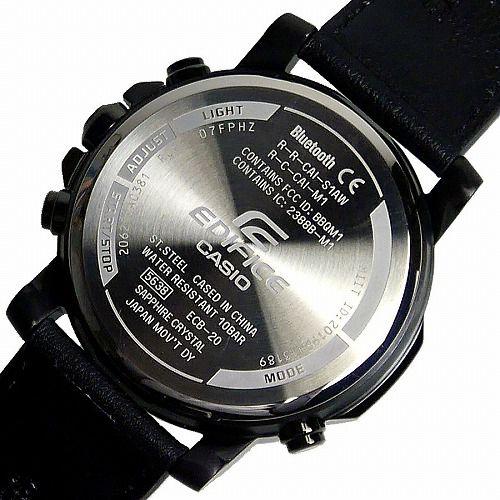 カシオ エディフィス 腕時計 ECB-20YCL-1AJF スマートフォンリンク メンズ 革バンド 国内正規品