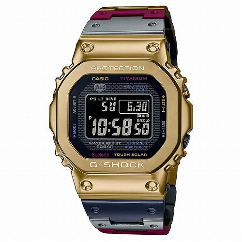 カシオGショック Bluetooth 搭載 ソーラー電波腕時計 GMW-B5000TR-9JR メンズ チタンマルチカラー  国内正規品 予約受付