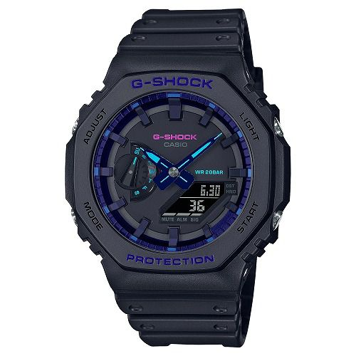 CASIO G-SHOCK アナログ・デジタル腕時計  GA-2100VB-1AJF メンズ Virtual Blueシリーズ 国内正規品