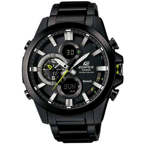 カシオ エディフィス アナログ・デジタル ソーラー腕時計   ECB-500DC-1AJF モバイルリンク機能搭載 メンズ 国内正規品 【動画有】