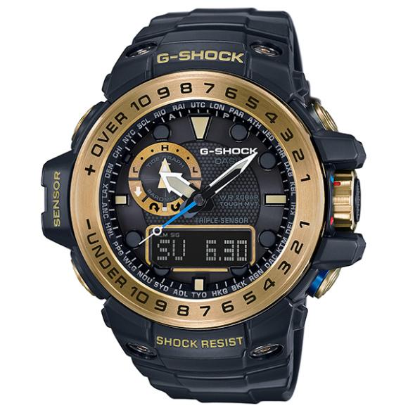 カシオGショック黒金 ガルフマスター ソーラー電波腕時計  GWN-1000GB-1AJF メンズ 国内正規品 【動画有】