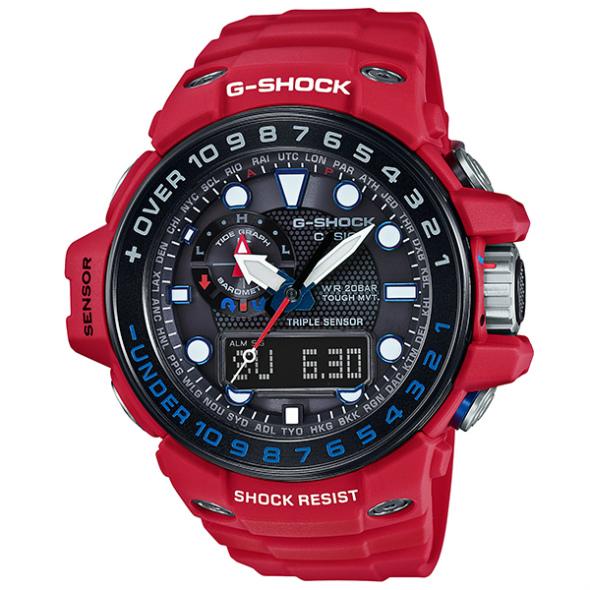 カシオGショック ガルフマスター ソーラー電波腕時計  GWN-1000RD-4AJF メンズ 国内正規品