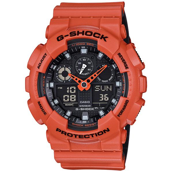 カシオGショック アナログ・デジタル腕時計   Layered Color Series GA-100L-4AJF メンズ 国内正規品 【動画有】