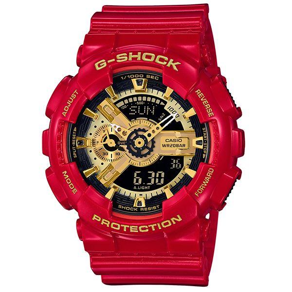 カシオGショック アナログ・デジタル腕時計  GA-110VLA-4AJF レッド&ゴールド メンズ 国内正規品
