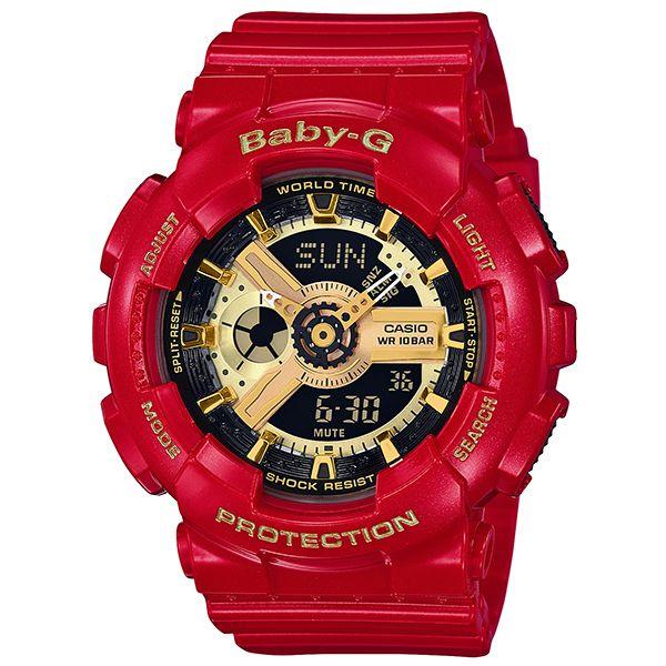 カシオ ベビーG アナ・デジ 腕時計   BA-110VLA-4AJR レッド&ゴールド レディース 国内正規品