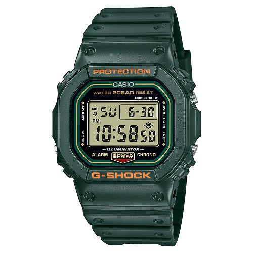 CASIO G-SHOCK デジタル腕時計  DW-5600RB-3JF  メンズ カーキ 国内正規品
