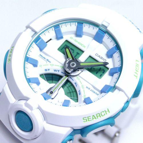カシオGショック白 アナログ・デジタル腕時計  GA-500WG-7AJF メンズ 国内正規品 【動画有】