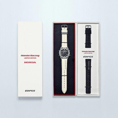 カシオ エディフィス アナログ・デジタル ソーラー腕時計 ECB-S100HR-1AJR Honda Racing Championship White Edition モバイルリンク機能搭載 メンズ 国内正規品