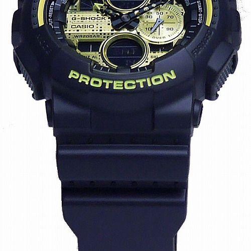 CASIO G-SHOCK アナログ・デジタル腕時計 GA-140DC-1AJF Black and Yellow Series メンズ 国内正規品
