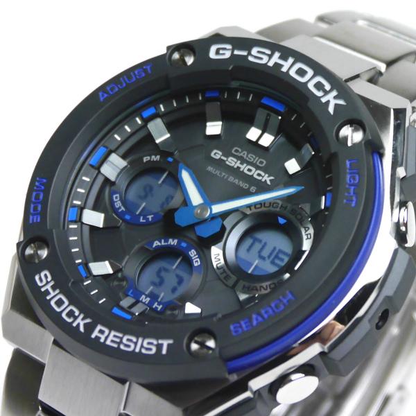 カシオGショック Gスチール ソーラー電波腕時計  GST-W100D-1A2JF メンズ 国内正規品 【動画有】
