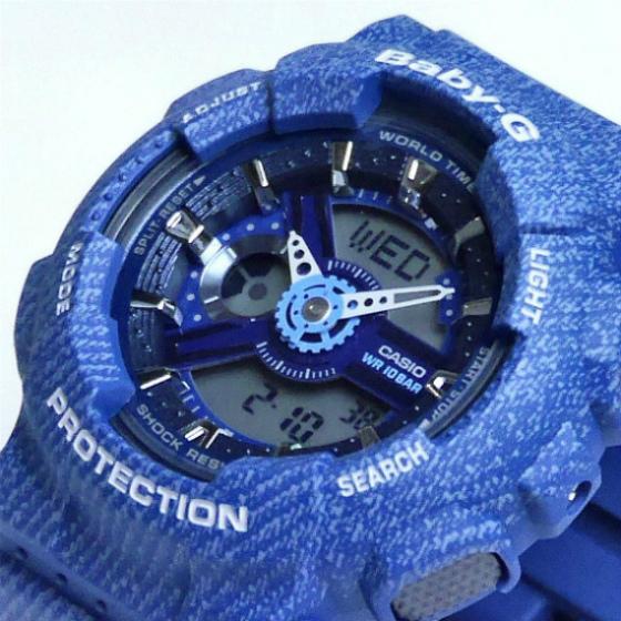 カシオ ベビーG アナ・デジ 腕時計   BA-110DC-2A2JF DENIM'D COLOR レディース 限定品 国内正規品