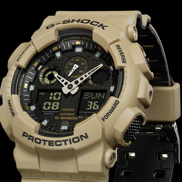 カシオGショック アナログ・デジタル腕時計   Layered Color Series GA-100L-8AJF メンズ 国内正規品 【動画有】