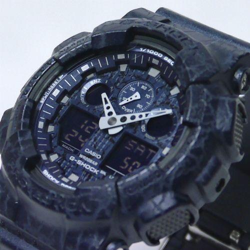 カシオGショック アナログ・デジタル腕時計  GA-100CG-2AJF クラックドパターン 限定品 メンズ 国内正規