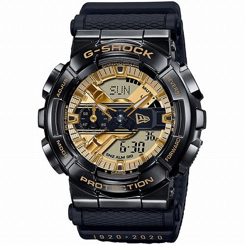 CASIO G-SHOCK アナログ・デジタル腕時計 GM-110NE-1AJR メンズ NEW ERA コラボレーションモデル 国内正規品