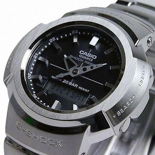 CASIO G-SHOCK アナログ・デジタル ソーラー電波腕時計  AWM-500D-1AJF フルメタルモデル メンズ 国内正規品