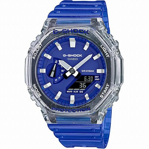 CASIO G-SHOCK アナログ・デジタル腕時計 GA-2100HC-2AJF メンズ 「HIDDEN COAST」スケルトン  国内正規品