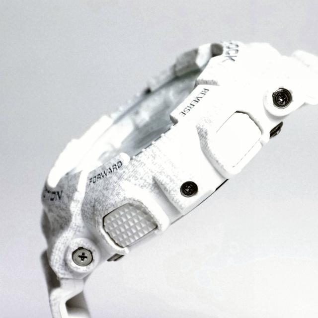 カシオGショック白 アナログ・デジタル腕時計  GA-110HT-7AJF ヘザード・カラー・シリーズ  メンズ 国内正規品 【動画有】