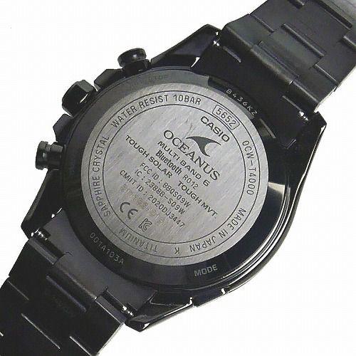 CASIO OCEANUS CLASSIC LINE ソーラー電波腕時計 OCW-T4000BA-1A3JF メンズ スマートフォンリンク 3年保証 国内正規品