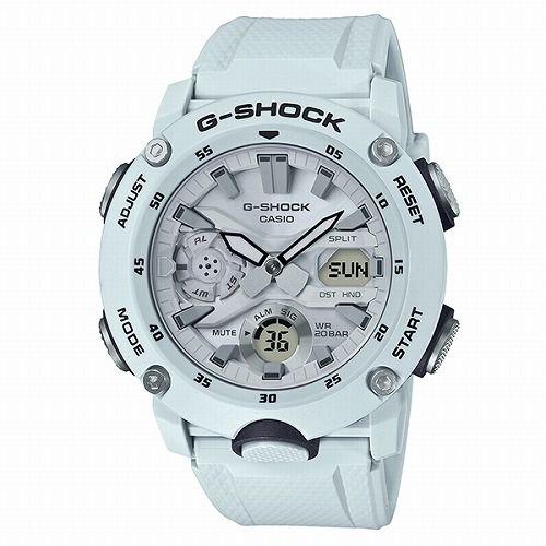 カシオGショック白 アナログ・デジタル腕時計 GA-2000S-7AJF メンズ 国内正規品
