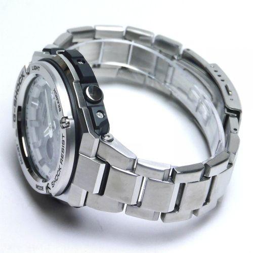 カシオGショック Gスチール ソーラー電波腕時計  GST-W110D-7AJF メンズ 国内正規品 【動画有】