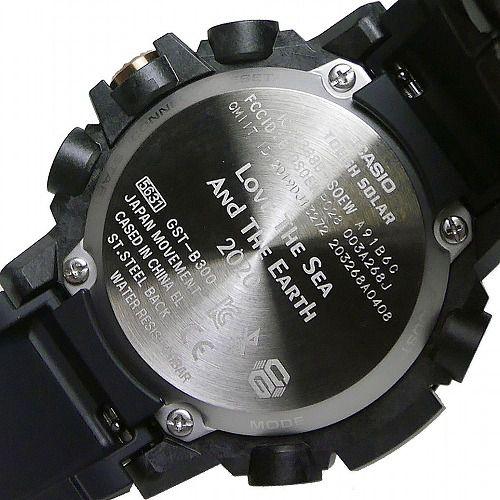 カシオGショックGスチール ソーラー腕時計 GST-B300WLP-1AJR スマートフォン リンク Love The Sea And The Earth メンズ  国内正規品