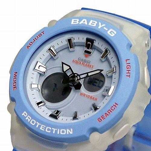 カシオ ベビーG アナ・デジ腕時計 BGA-270AQ-2AJR アクアプラネット コラボレーション レディース 国内正規品
