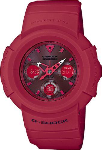 カシオGショック ソーラー電波腕時計  AWG-M535C-4AJR 35th Anniversary RED OUT メンズ 国内正規品
