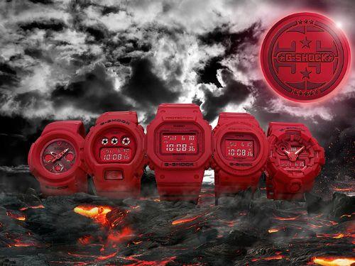 カシオGショック デジタル腕時計  DW-5735C-4JR 35th Anniversary RED OUT メンズ 国内正規品