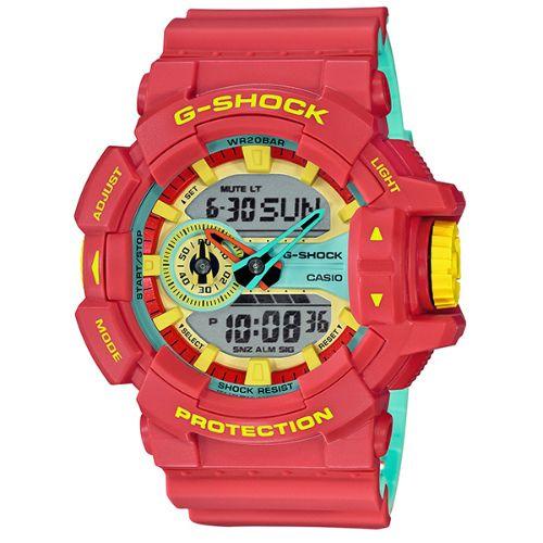 カシオGショック アナログ・デジタル腕時計  GA-400CM-4AJF Breezy Rasta Colorメンズ 国内正規品