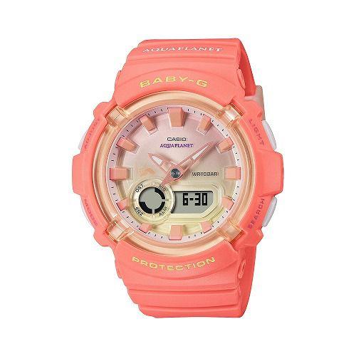 カシオ ベビーG アナ・デジ腕時計 BGA-280AQ-4AJR レディース アクアプラネットコラボレーションモデル 国内正規品